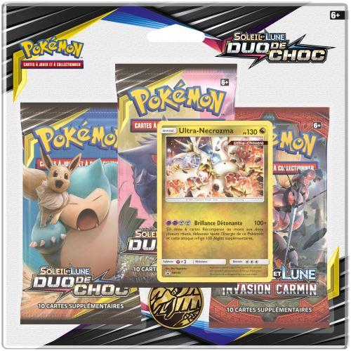 Pack 3 Boosters Pokémon Soleil et Lune 9 - Version Ultra Necrozma