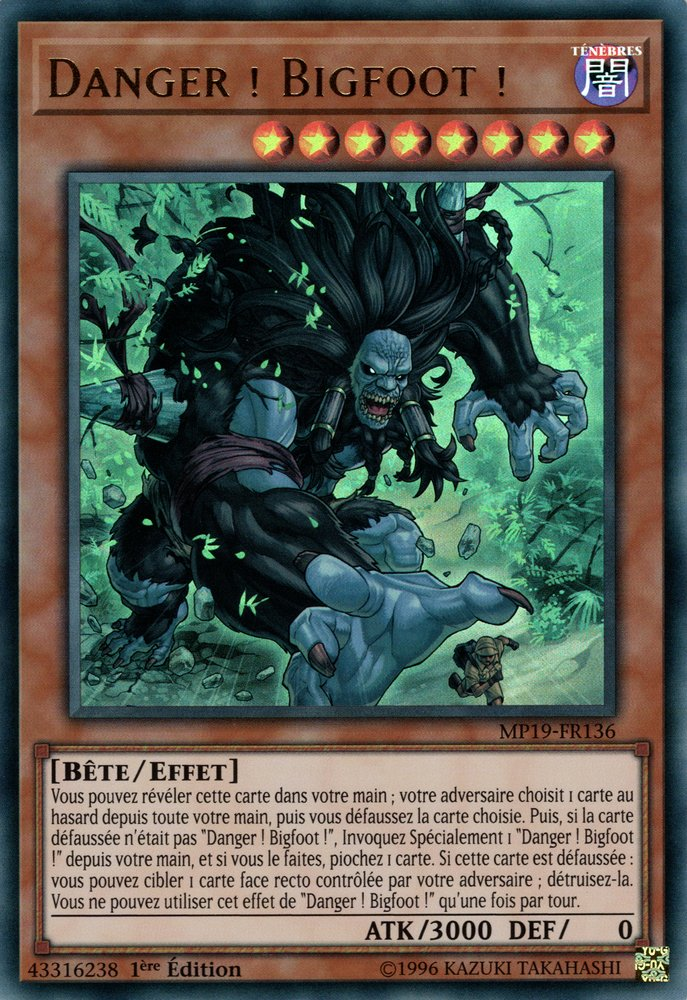MP19-FR136 Danger ! Bigfoot ! Ultra Rare