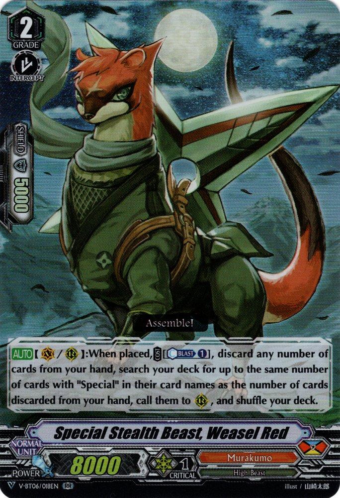 V-BT06/018EN Agent Stealth Beast, Weasel Red Double Rare (RR)