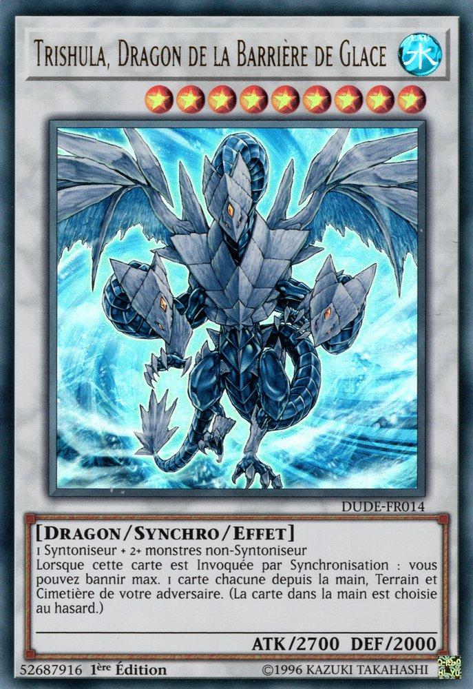 DUDE-FR014 Trishula, Dragon de la Barrière de Glace Ultra Rare