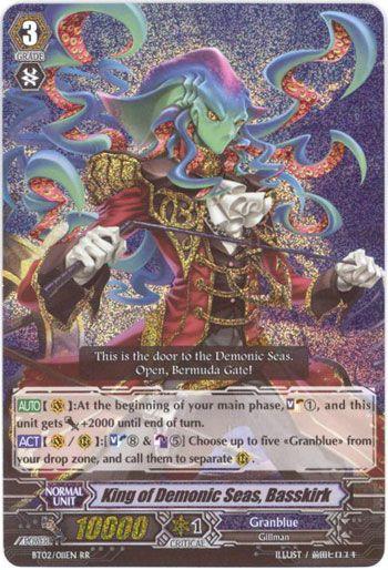 BT02/011EN King of Demonic Seas, Basskirk Double Rare (RR)