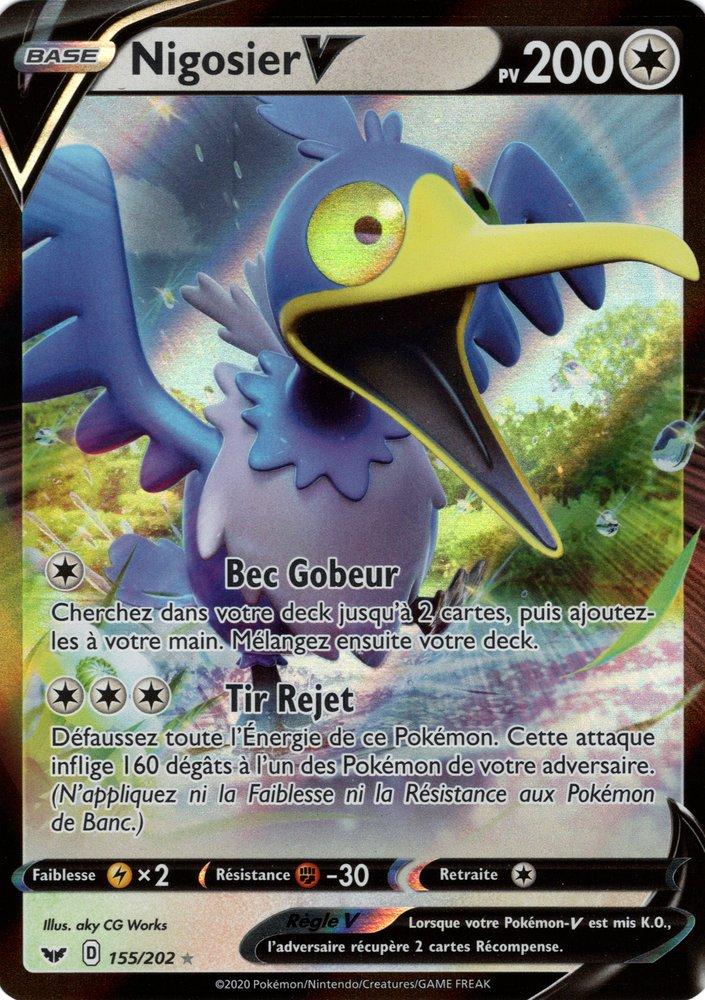 Pokemon Trading Card Game Carte Pokemon Francaise Epee Et Bouclier Nigosier V 155 202 Sivtas Com Tr