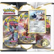Pack 3 Boosters Pokémon Épée et Bouclier 2 - Version Duralugon