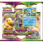 Pack 3 Boosters Pokémon Épée et Bouclier 4 - Version Larméléon