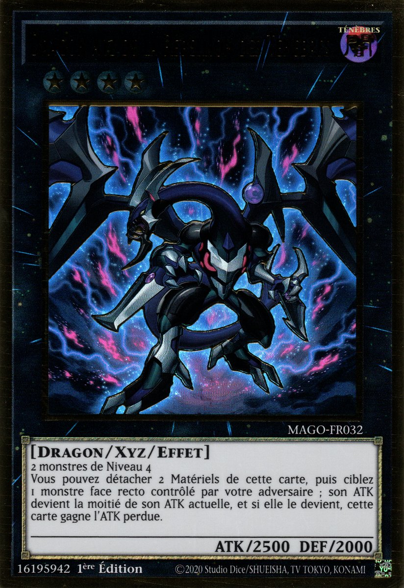 Dragon XYZ de la rébellion des ténèbres CT12-FR002 Yu-Gi-Oh