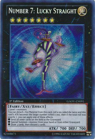 GAOV-EN091 Number 7: Lucky Straight Secret Rare