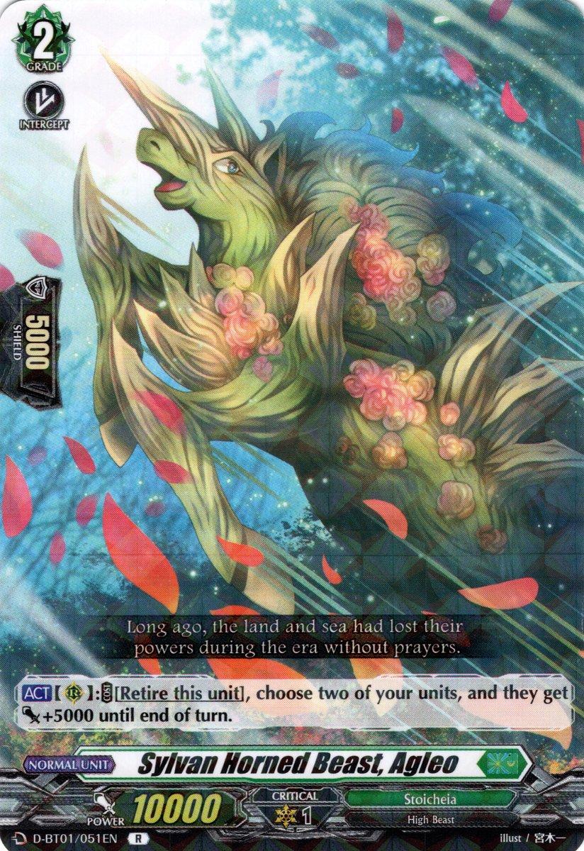D-BT01/051EN Sylvan Horned Beast, Agleo Rare (R)
